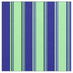 [ Thumbnail: Green & Blue Striped/Lined Pattern Fabric ]