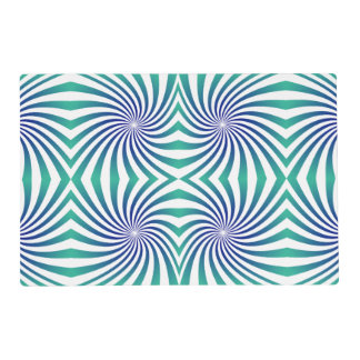 Green blue swirls laminated place mat