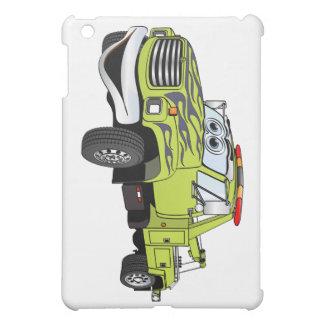 Green Blue Tow Truck Cartoon Cover For The iPad Mini