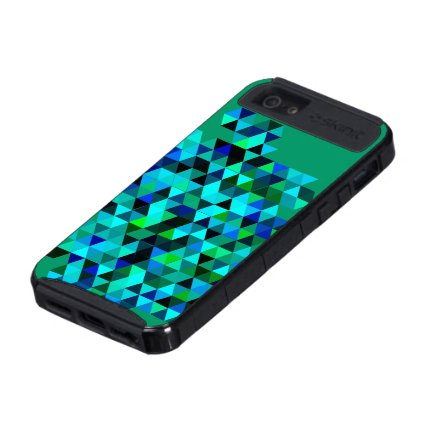 Green Blue Triangle Pattern Case For iPhone 5