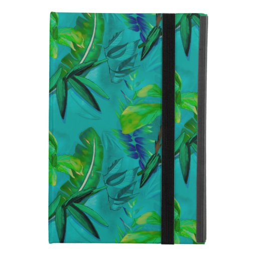Green blue tropical foliage iPad mini 4 case