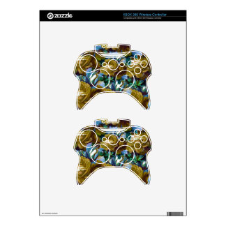 Green Blue Vintage Roses Xbox 360 Controller Decal
