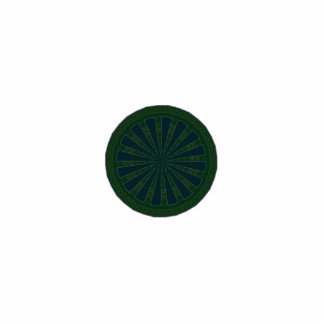 Green & Blue Wheel Kaleidoscope Cutout