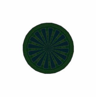 Green & Blue Wheel Kaleidoscope Photo Sculpture