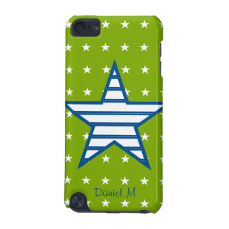 Green Blue White Stars & Stripes Gifts iPod Touch (5th Generation) Covers
