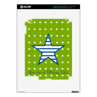 Green Blue White Stars & Stripes Gifts iPad 3 Decal