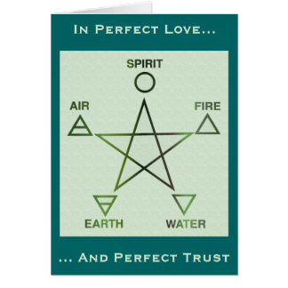 Green-Blue Wiccan Rites of Passage Card