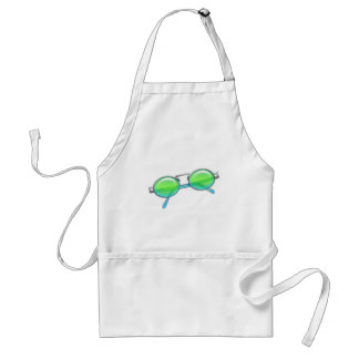 Green & Blue Wire Rimmed Sunglasses Adult Apron