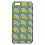 GREEN BLUE YELLOW CONCENTRIC CIRCLES CASE FOR iPhone 5C