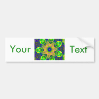 Green Blue Yellow Gold Sunrise Sunset Bow Lace Bumper Sticker