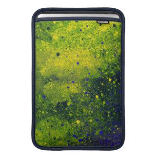 Green Blue & Yellow Paint Splatter Grunge Texture MacBook Air Sleeve