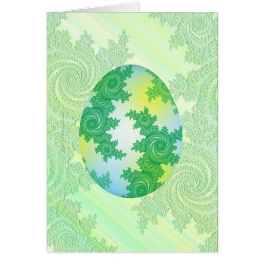 Green, Blue & Yellow Painted Egg Card
