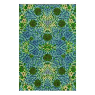Green Blue Zebra Abstract Photo Cork Paper