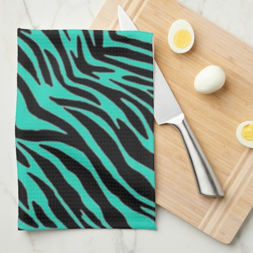 green blue zebra print towel zazzle. Black Bedroom Furniture Sets. Home Design Ideas