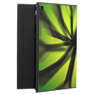 Green Blurred motion pattern Cover For iPad Air
