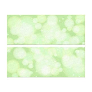 Green Bokeh Circles Abstract Art Canvas Print