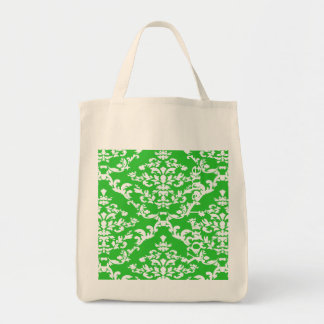 Green Bold Damask w/ name @ Emporiomoffa Tote Bag