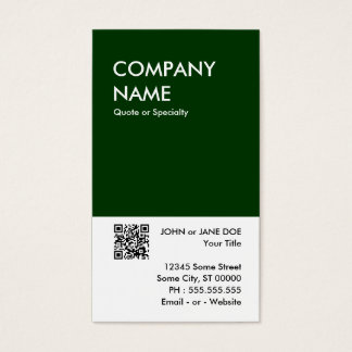 green bold design your own QR code Business Card