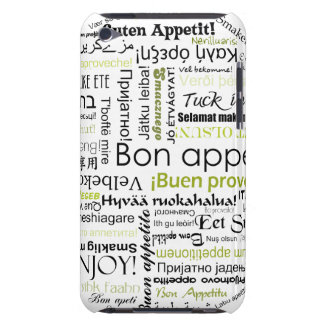 Green Bon appetit in different languages Barely There iPod Cover