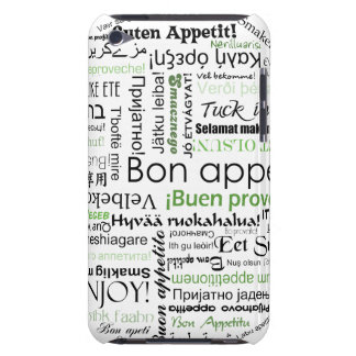 Green Bon appetit in different languages Case-Mate iPod Touch Case