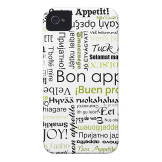Green Bon appetit in many different languages iPhone 4 Covers