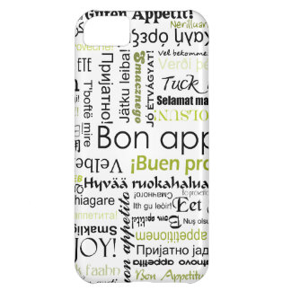 Green Bon appetit in many different languages iPhone 5C Case