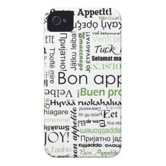 Green Bon appetit in many different languages Case-Mate iPhone 4 Case