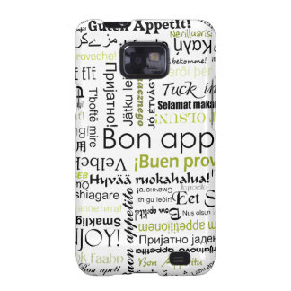 Green Bon appetit in other languages Samsung Galaxy SII Cases