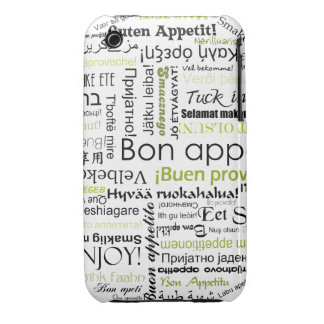 Green Bon appetit in other languages iPhone 3 Covers