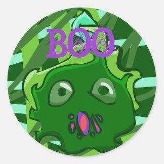 Green BOO Sticker
