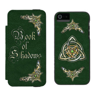 Green Book of Shadows Wallet Case For iPhone SE/5/5s