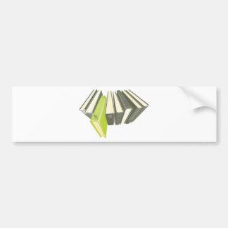 Green book outside of row bumper sticker