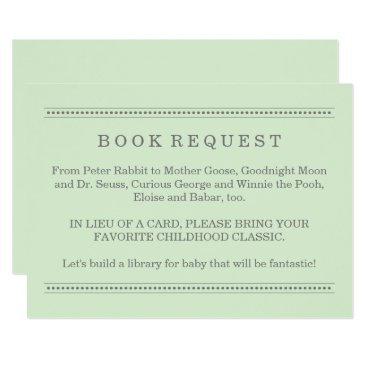 Toddler & Baby themed Green Book Request | Baby Shower Enclosure Card