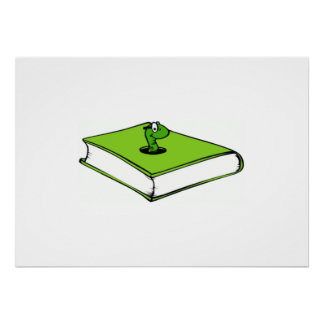 Green Book Worm Print