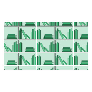 Green Books on Shelf. Double-Sided Standard Business Cards (Pack Of 100)