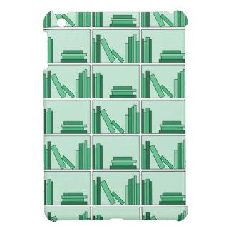Green Books on Shelf Cover For The iPad Mini