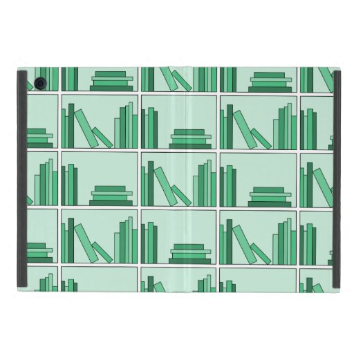 Green Books on Shelf. iPad Mini Cover