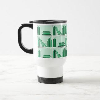 Green Books on Shelf Mug