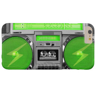 Green boombox barely there iPhone 6 plus case
