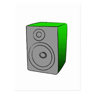 Green BOOMBOX Postcard