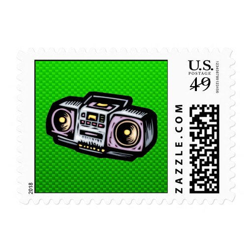 Green Boombox Stamps
