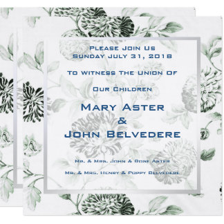 Green Botanical Floral Invitation Announcement