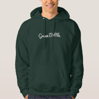 Green Bottle brand hoodie (white on green)