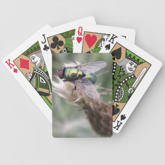 Green Bottle Fly Macro Playing Cards
