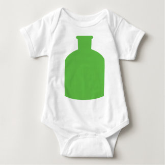 green bottle icon baby bodysuit