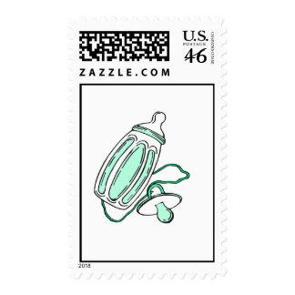 green bottle stamp
