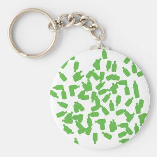 green bottles icon keychain