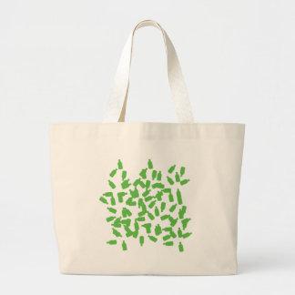 green bottles icon large tote bag