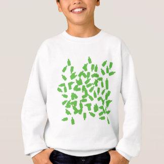 green bottles icon sweatshirt