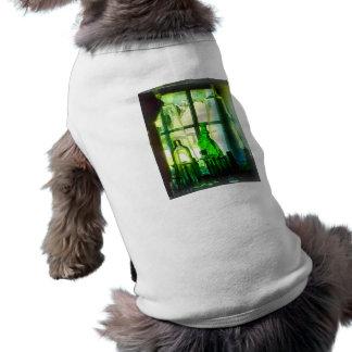 Green Bottles on Windowsill Dog Tee
